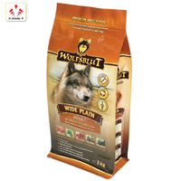 Plastic Printed 1KG 2KG Dog Food Pet food square bottom bag For Packaging