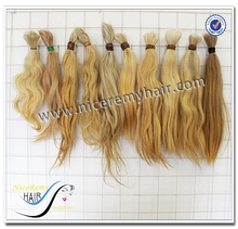 Wholesale 18-24inch unprocessed Chinese best quality grey hair no chemcials and acid