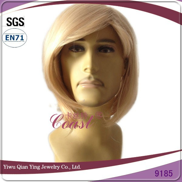 cheap long dark blond mens handsome synthetic wig