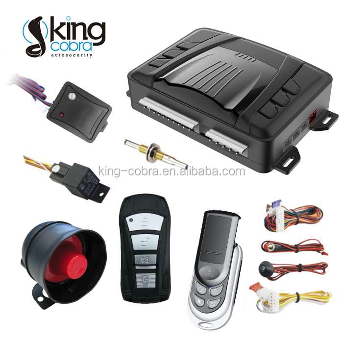 12V One Way Car Alarm System Anti Code Scan Speaking Car Alarm