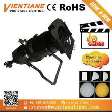 Hot selling Tv studio white cob 200w profile spotlight ,3200~6500k, Hight CRI imaging light