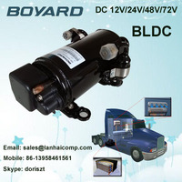 zhejiang boyard r134a dc 12 volt refrigerator compressor for van roof mounted air conditioner
