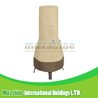 Outdoor Waterproof 22 Inches Beige and Brown Chimenea Cover Fire Pit Cover