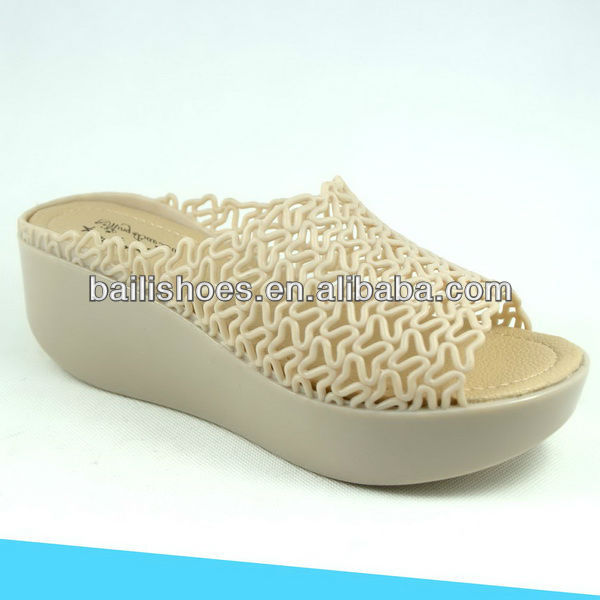 2013 Fashion women PVC wedge shoes New Style