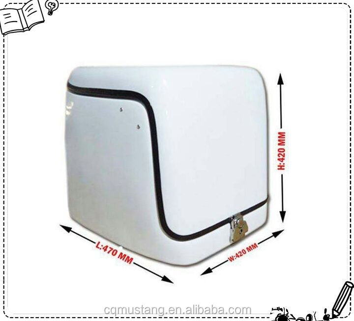 High Performance Material Motorcycle Tail Rear Case pizza delivery box for scooter