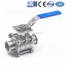 2 Way Three Piece High Platform About Inclusive Stop Fast 3PC Ball Valve