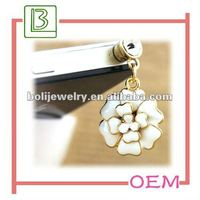 hot sale fashion flower mobile phone dustproof plug for iphone