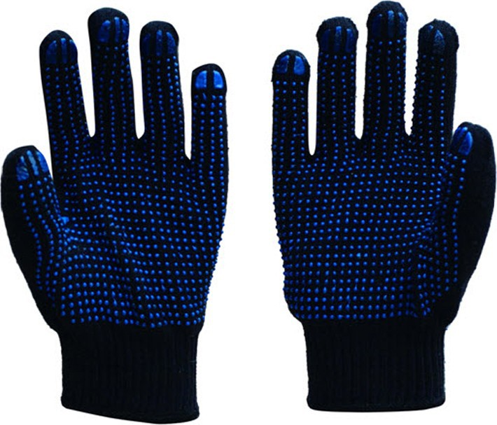 protective pvc dotted freezer gloves for hand working