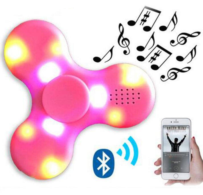 Hot sale mad in china promotional gift light plastic mini games spinner with bluetooth speaker