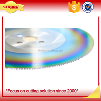 High accuracy HSS cobalt cutting saw blade with Titanium Aluminum coating for cutting copper