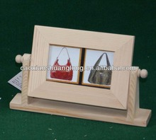 new unfinished natural wooden pictures photo frame with base