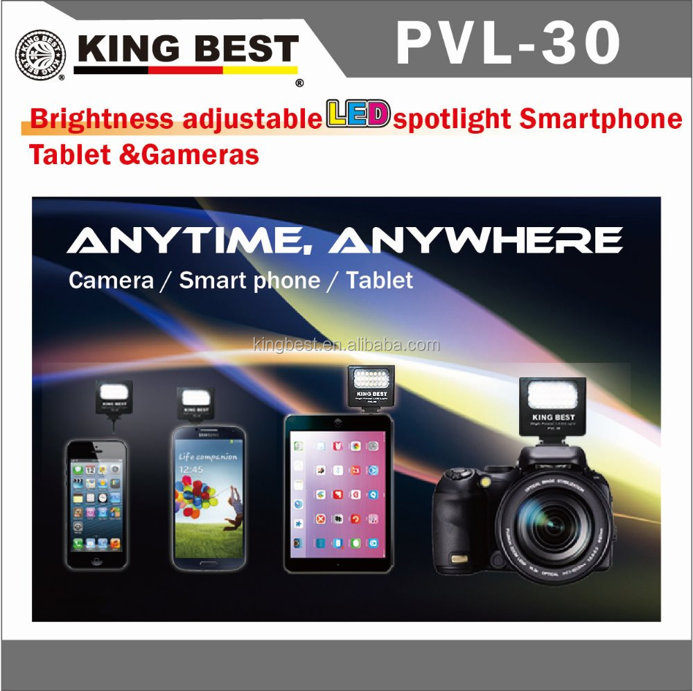 KINGBEST VL-210M LED China Suppliers Rechargeable Led Selfie Ring Phone Night Light Used For Iphone 6 Accessories Mobile