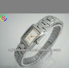 logo watch for women, Japan quartz movt with diamonds studded, all eco-friendly stainless steel