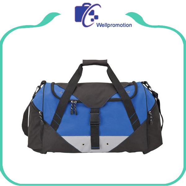Wholesale travel polyester large gym sports duffle bags
