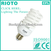 high quality energy saver light bulb/220v e27 spiral fluorescent lamp made in China
