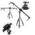 Factory Supply Camera Mini Rail Dolly Slider 80cm For DV camcorder With Pan Dead
