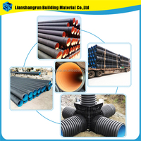 high density HDPE corrugated drainage 6 inch drain pipe