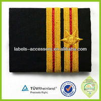 2015 new design embroidered military security sholder epaulets with star