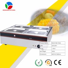 counter-top 4 pans electric bain marie/electric buffet/food warmer heater