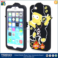 china products 3d sublimation custom silicone cover for iphone 6/ 6s