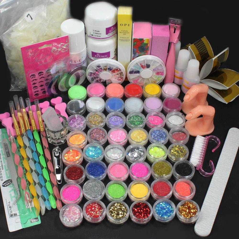 Professional Acrylic Nail Art Color Acrylic Brand Glitter Powder ...