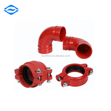Fire Fighting Ductile Iron Grooved Tee Pipe Fittings