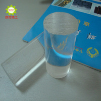 transparent polymethylmethacrylate PMMA acrylic round rod