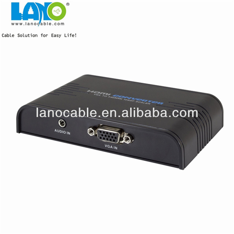 High quality s-video vga rca to mini hdmi converter box China exporter