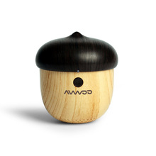 Nut Mast Wooden Dustproof Shockproof 3W wood Mini Bluetooth Speaker