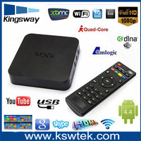 High Performance mxq amlogic qude core arabic iptv channels google tv box android tv box