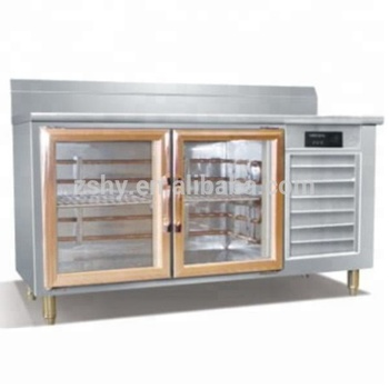 Stainless Steel Refrigerated counter table with 2 glass doors