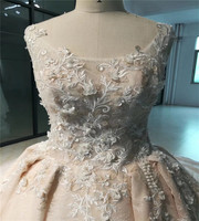 2018 New Design Wedding Gowns Real Sample Heavy Beading Lace Wedding Dress
