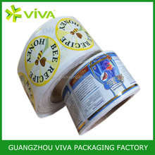 Adhesive custom printed label printing , Waterproof label sticker