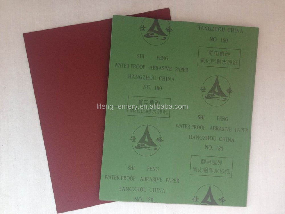 Chinese aluminium oxide abrasive paper for polishing