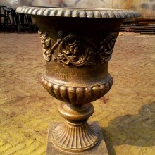 decorative metal garden flower pot