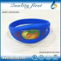 Waterproof Sillicone F08 + TK4100 Dual Chip Bracelet/Wristband for Swimming Pool