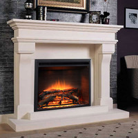 2015 contemporary home decor marble decor flame infrared electric fireplace