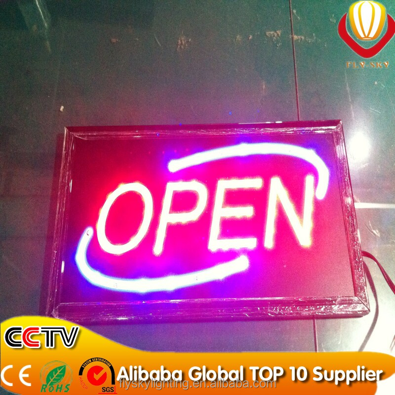 wholesale animated neon sign board lighting sign board for shops advertising with ON/OFF switch factory direct