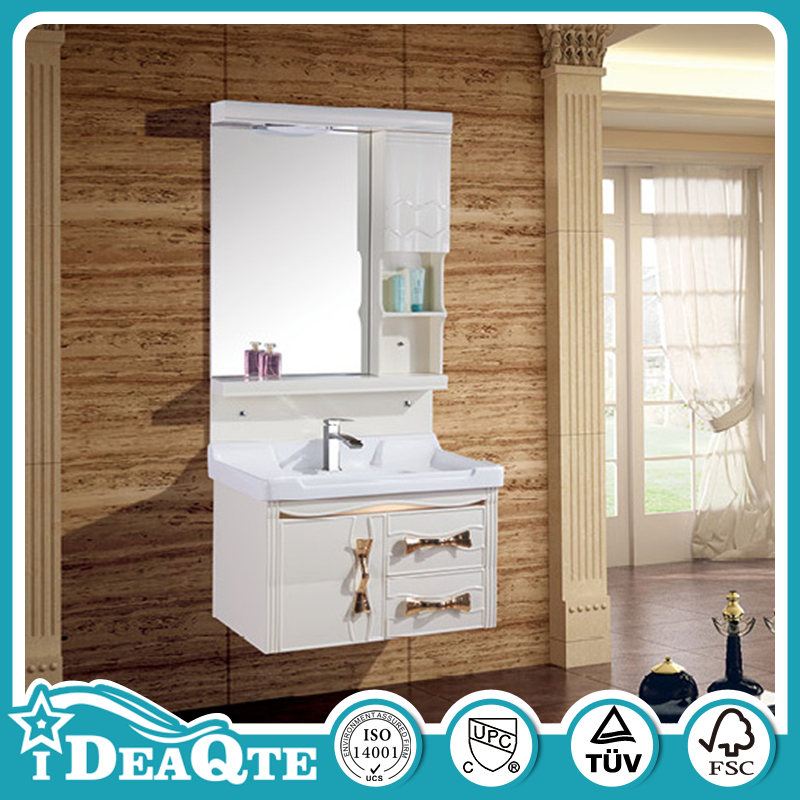 High Gloss Elegant Bathroom Vanity Wall Hang Sink Unit with Mirror