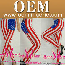 Fashion high quality US flag leggings