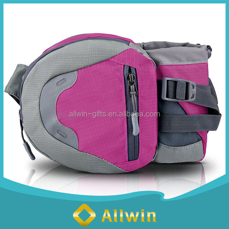 Wholesale outdoor waist bag fanny pack with water holeder