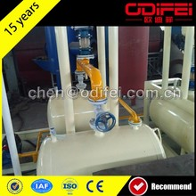 Plastic waste lubrication oil refining system with high quality