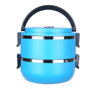 Hot sell multi layer insulated thermo stainless steel food carrier Insulation pot with pp lid