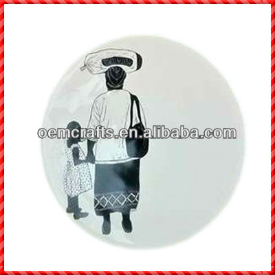Aniamted home necessity of Restaurant Ceramic Plates Dishes for sale