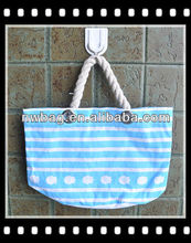 2013 Best-selling Blue White Striped Beach Bag