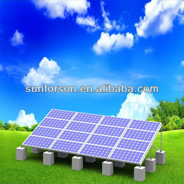 Continuous PV Arrays Solar Racking System