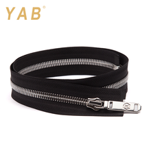 YAB Wholesale Prices Europe Market Open-End Platinum Color Brass Metal Teeth Zipper Roll