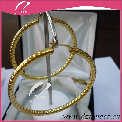Fashion gold earrings hoop earring jewelry