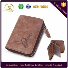 china suppliers fashion smart money clip cow Genuine leather wallet for men