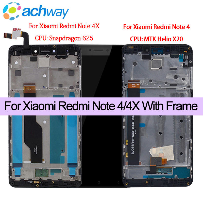 For Xiaomi Redmi Note 4 4X With Frame